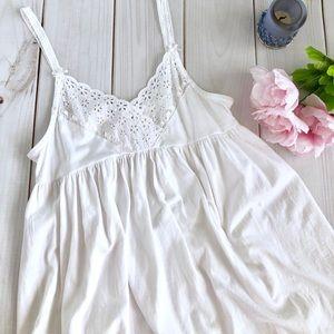 Victoria's Secret White Babydoll Night Gown